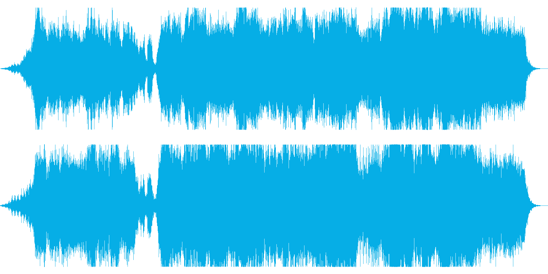 ダークファンタジーなオーケストラBGMの再生済みの波形
