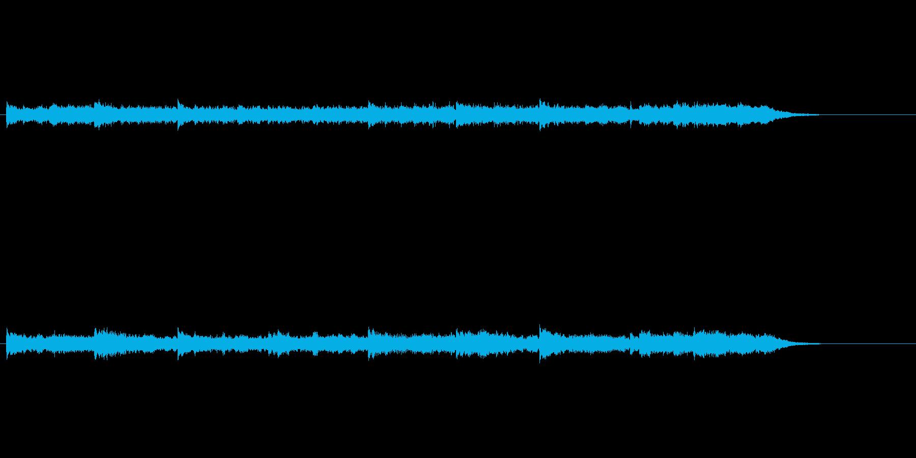 幻想的な環境音楽の再生済みの波形
