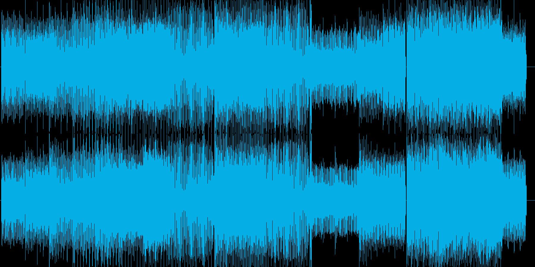 コミカル&スタイリッシュミュージックの再生済みの波形