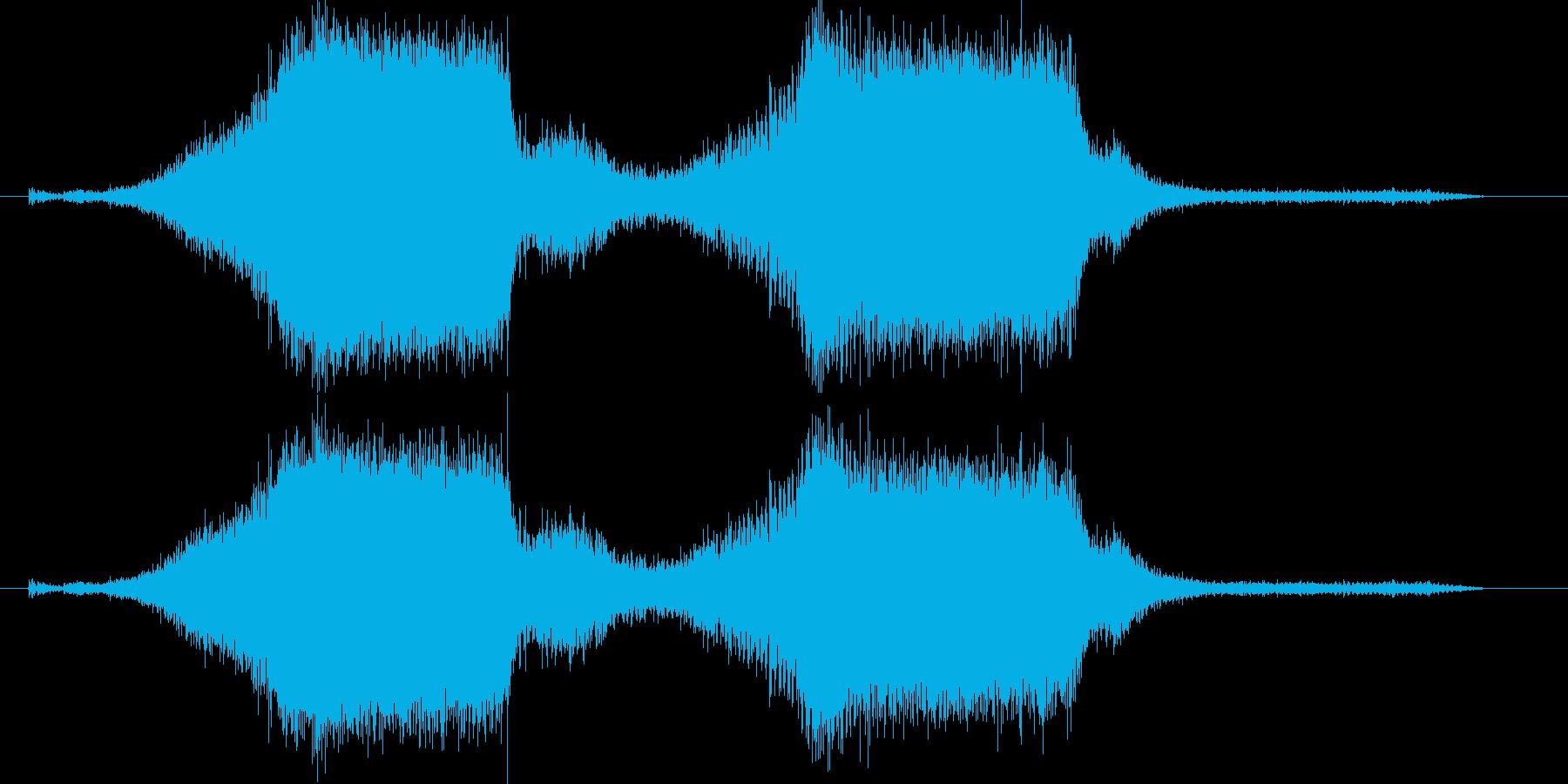 シュルシュル、キュルキュルという機械音の再生済みの波形