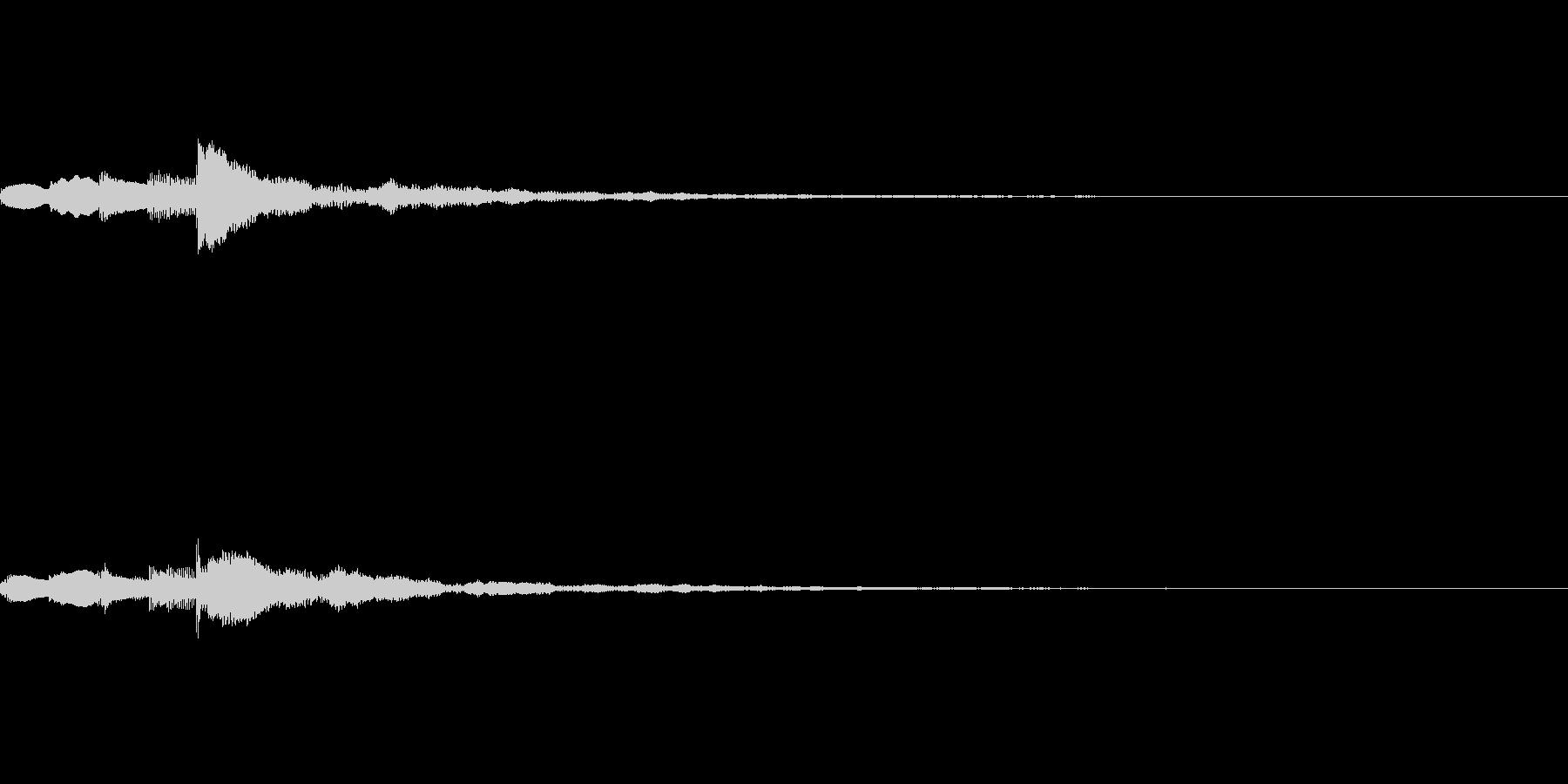 ミステリアスなスタート音の未再生の波形