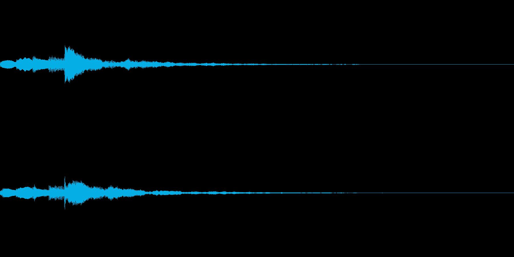 ミステリアスなスタート音の再生済みの波形