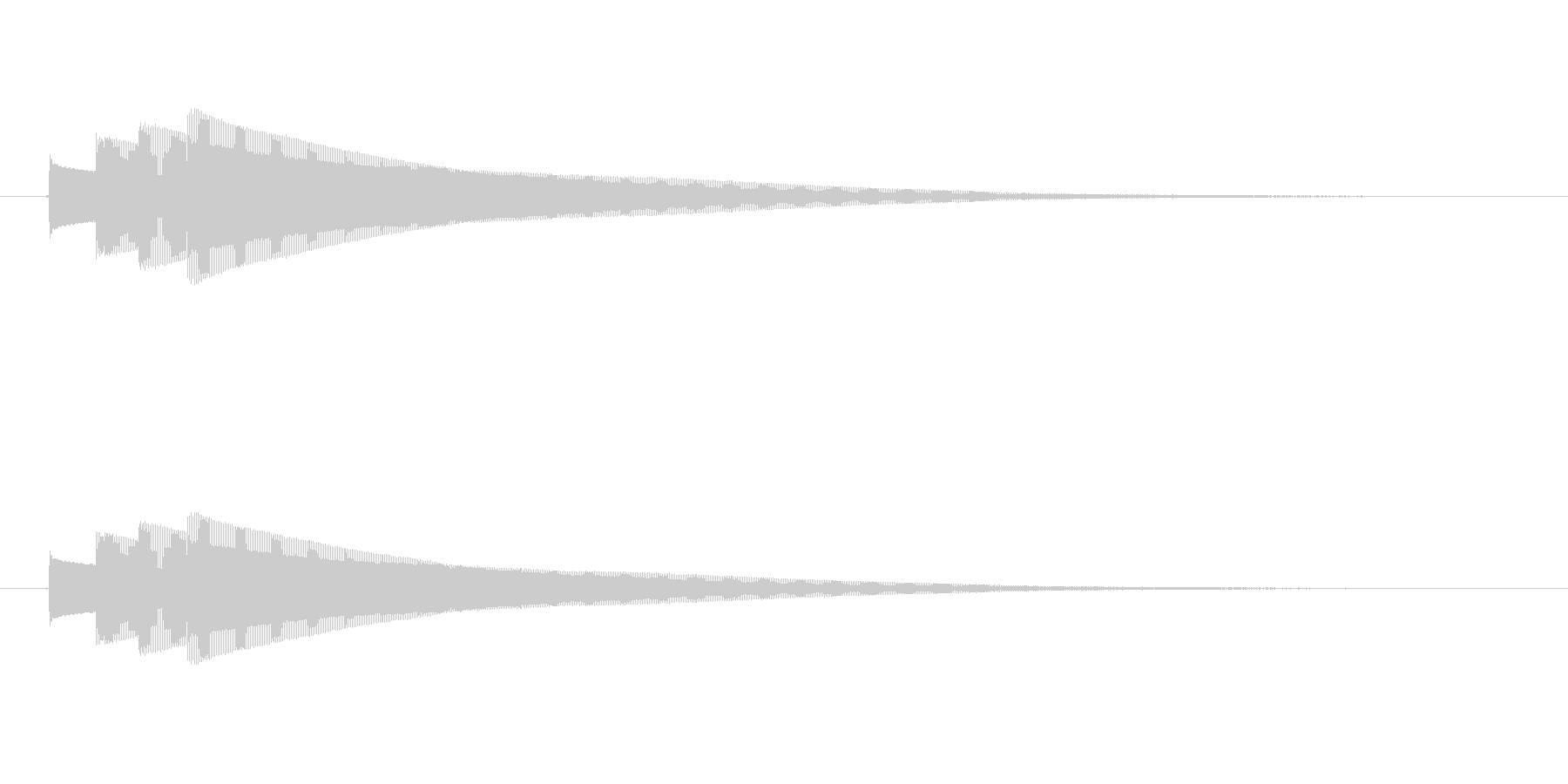 終わりピンポンパンポン (早い)の未再生の波形