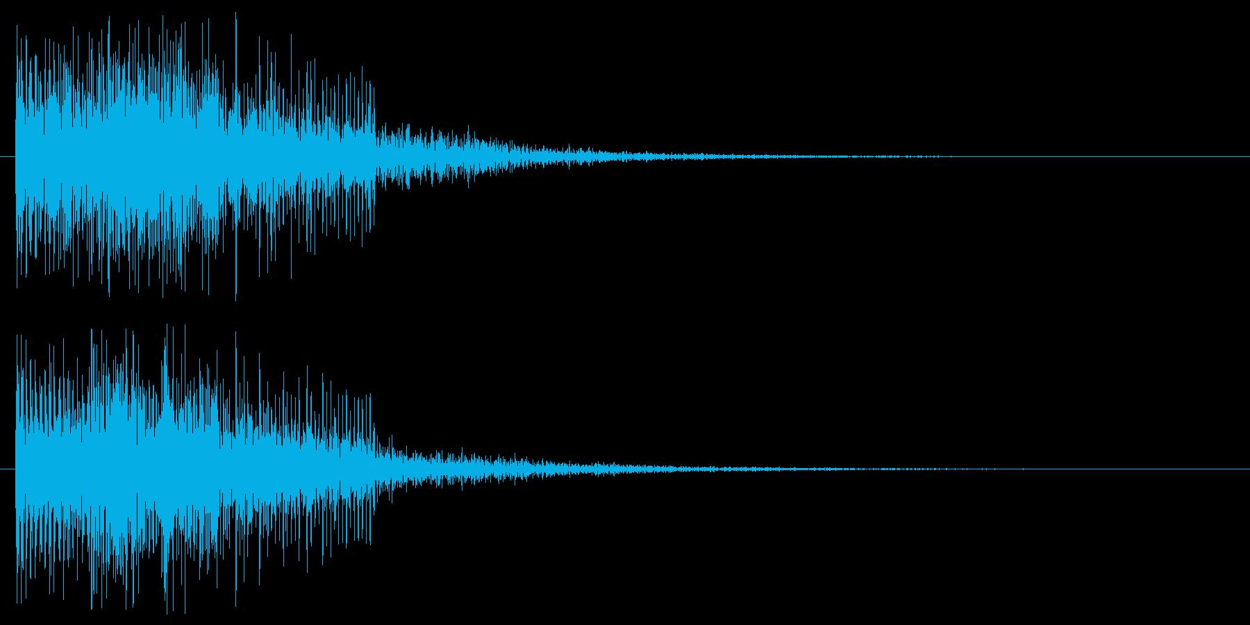 ゲームオーバー 残念な音 不正解 はずれの再生済みの波形