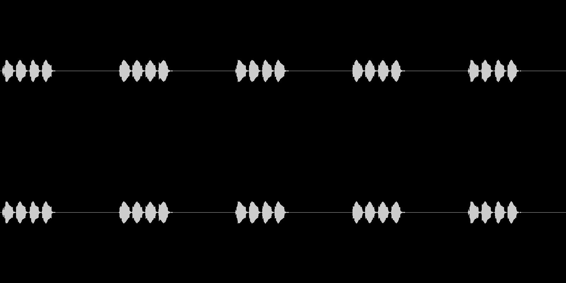 ピピピッという音です。の未再生の波形