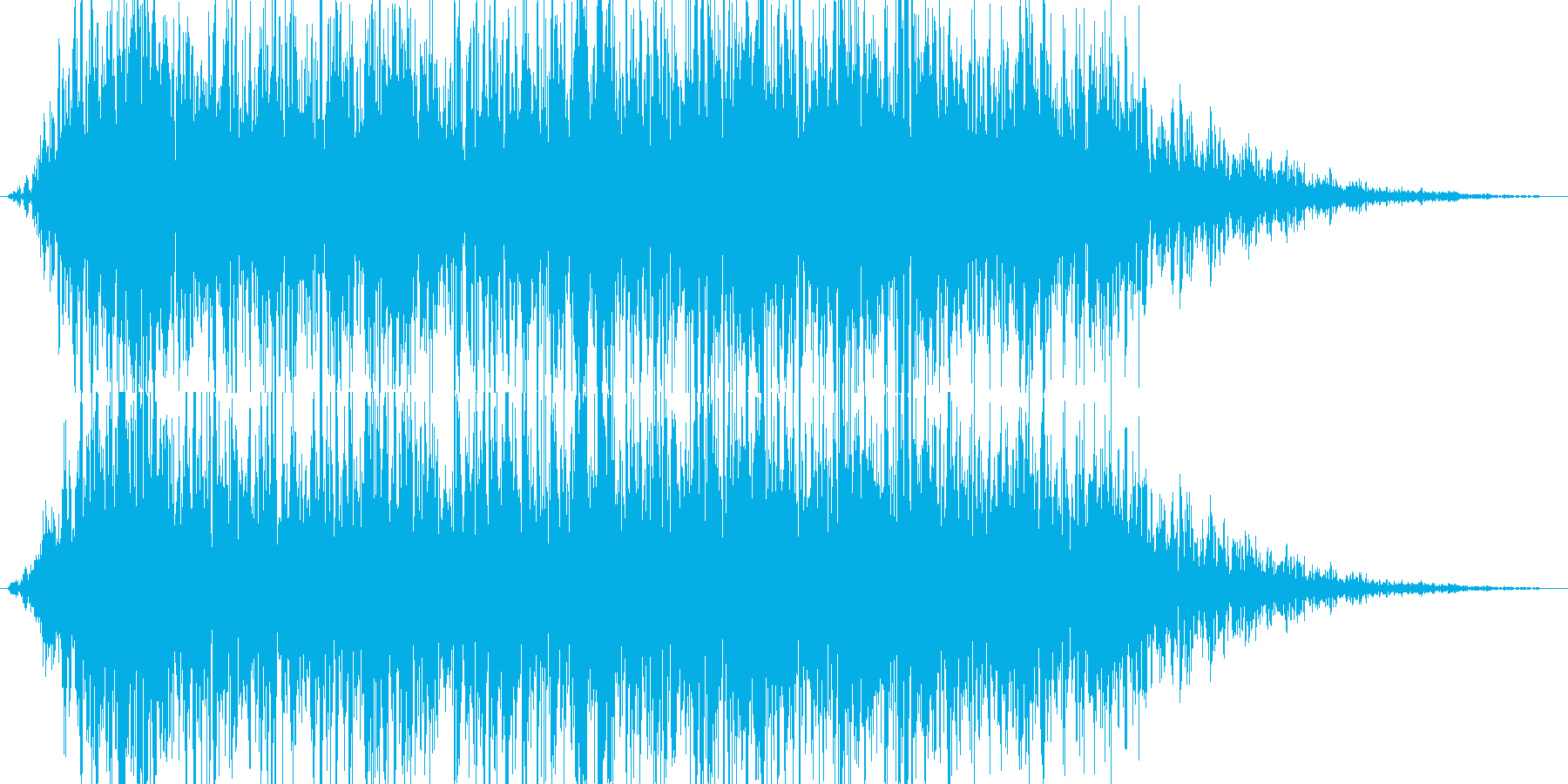地震魔法(地割れ発生)の再生済みの波形