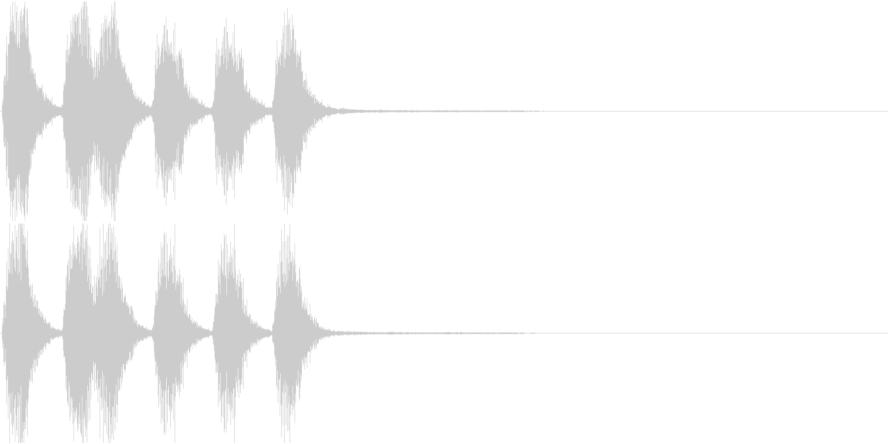 トランペット ファンファーレ 定番 16の未再生の波形