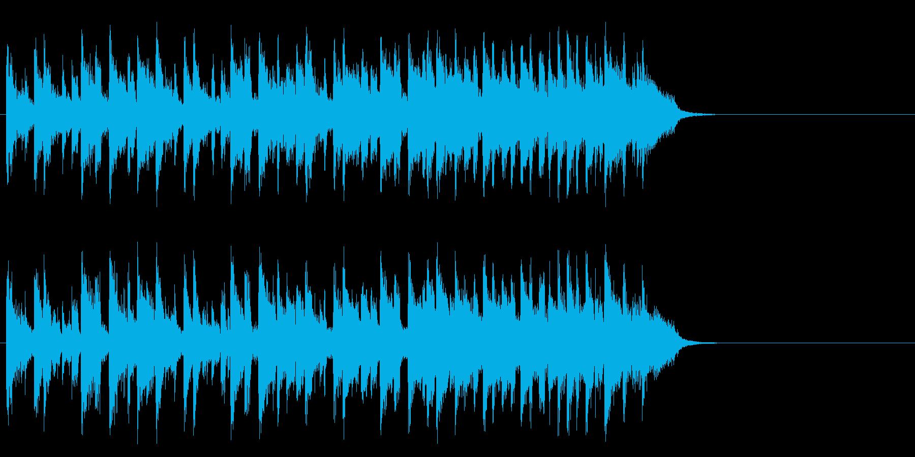 リゾート風のフュージョン(Aメロ)の再生済みの波形