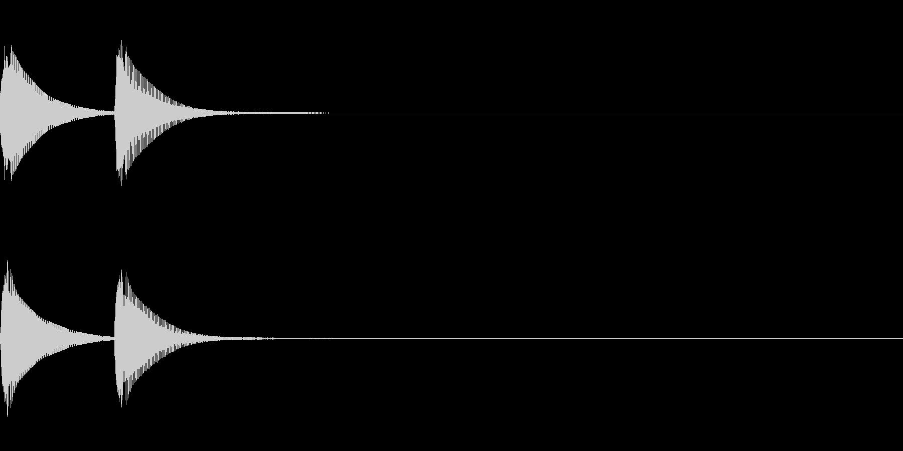 システム音/ピコン/電子音/タイプBの未再生の波形