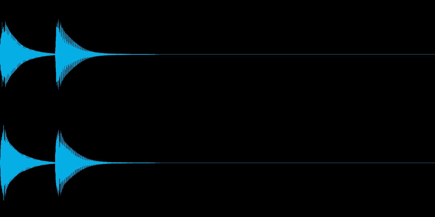 システム音/ピコン/電子音/タイプBの再生済みの波形