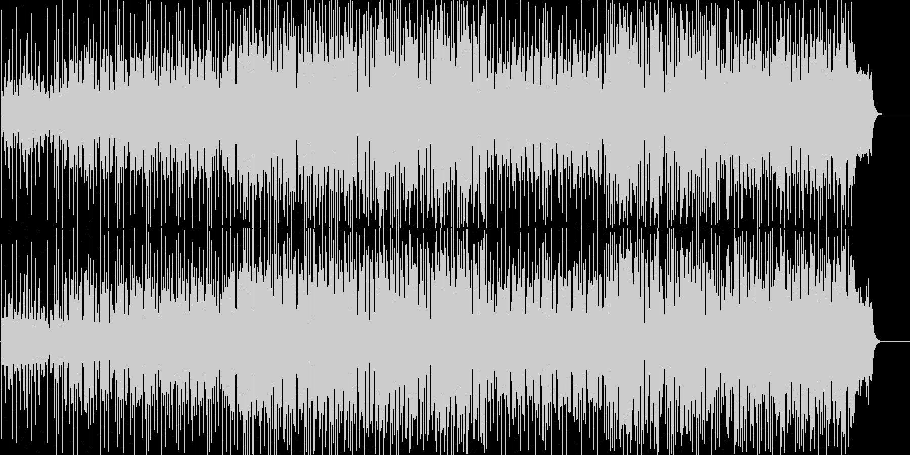 軽快で新鮮なイメージのポップスの未再生の波形