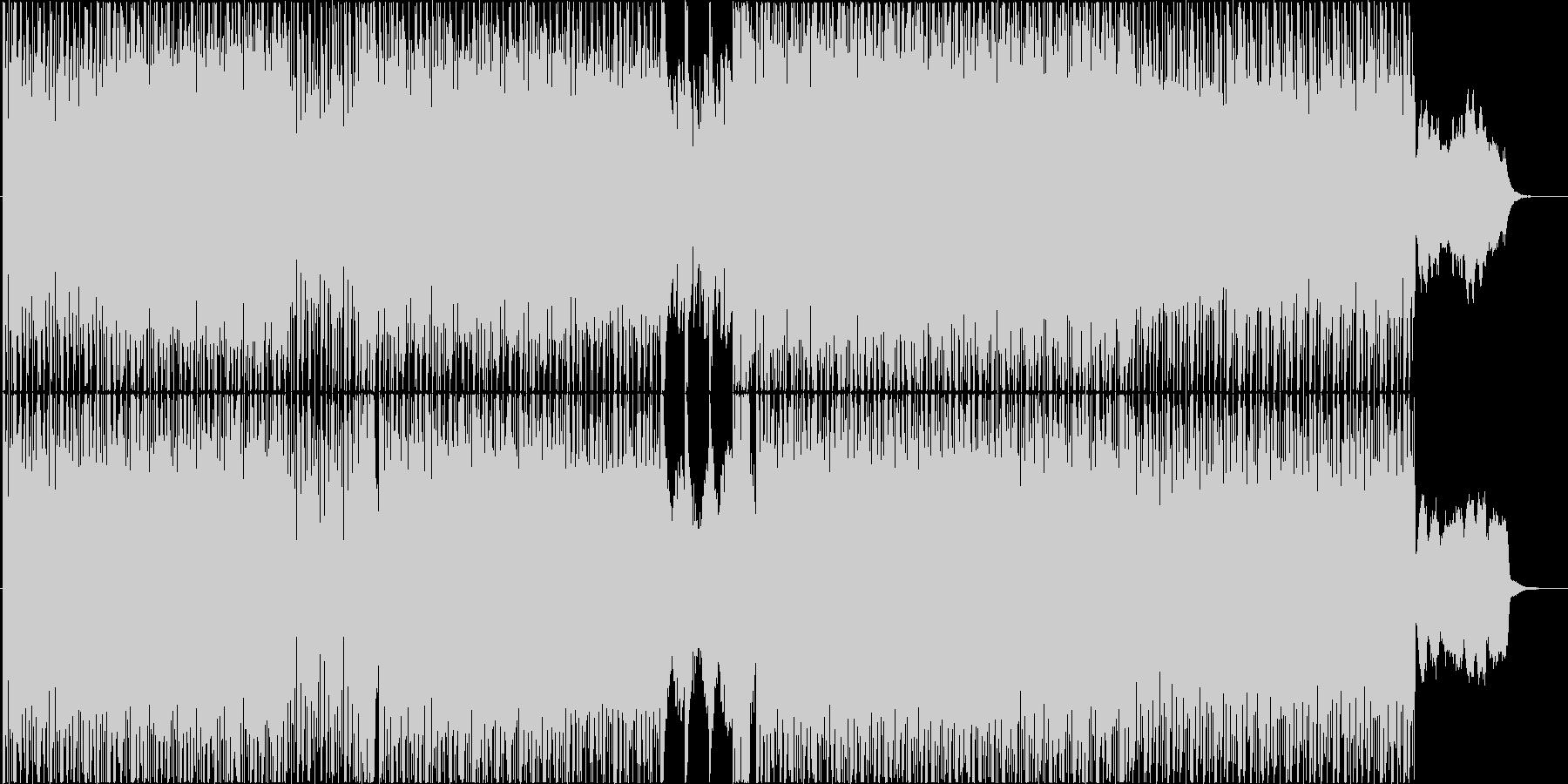 Future Bass的なBGMの未再生の波形