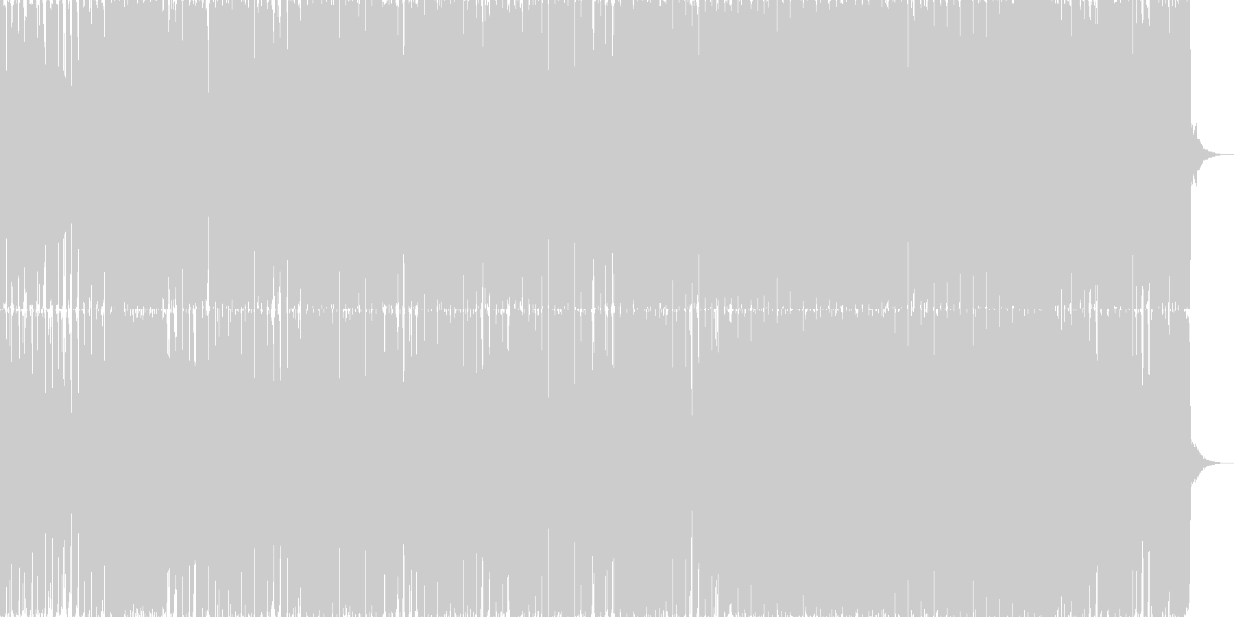 ベートーヴェン第九テクノポップリミックスの未再生の波形