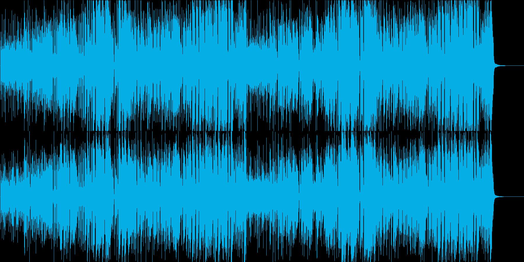 映像BGM ブルーノート系ブラスのジャズの再生済みの波形