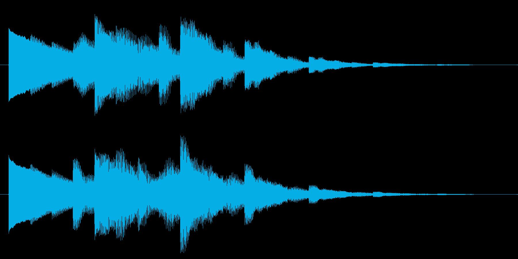 ベルの静かな場面転回音1の再生済みの波形