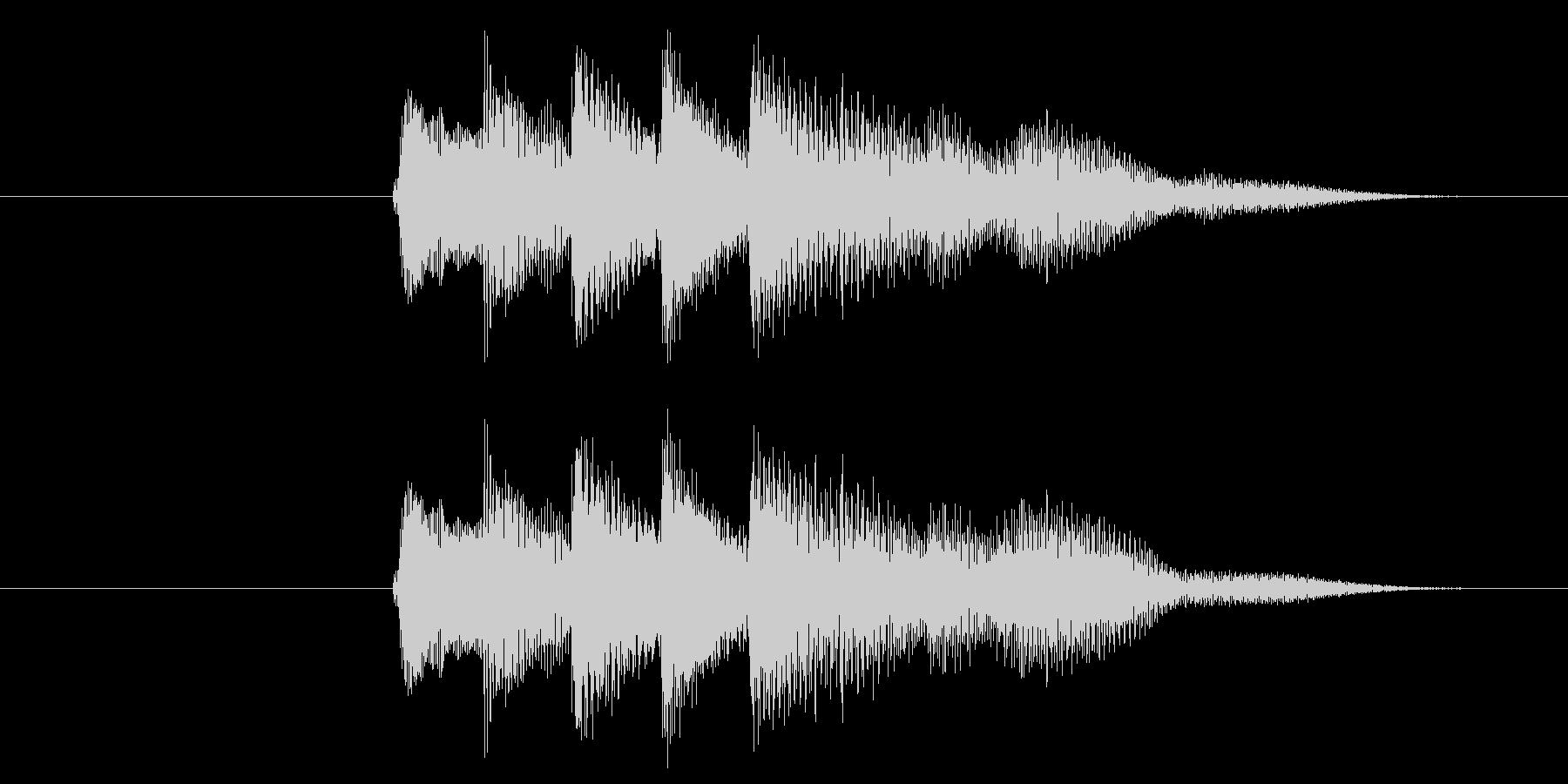 クレジット音、スタート音の未再生の波形
