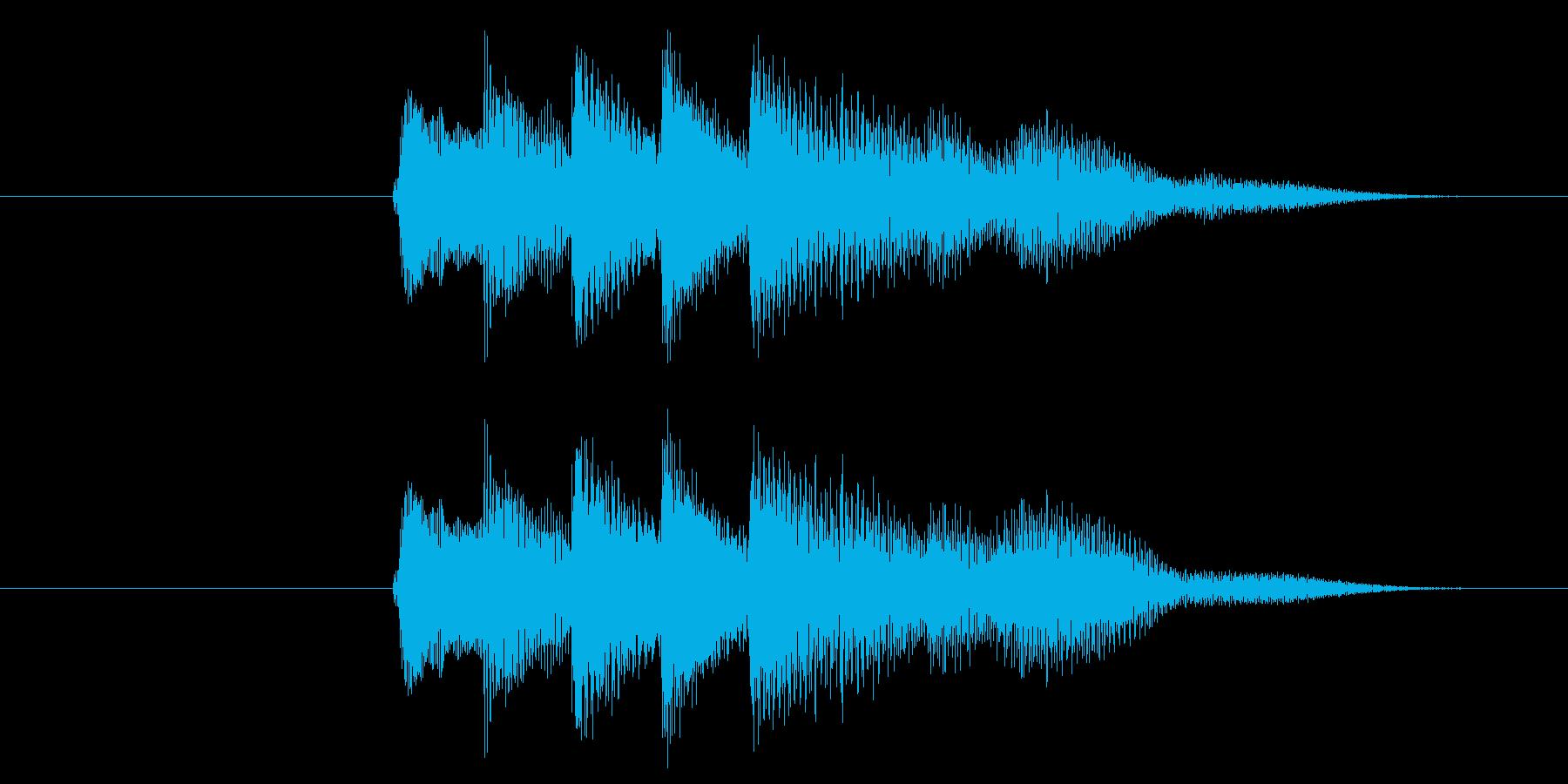クレジット音、スタート音の再生済みの波形