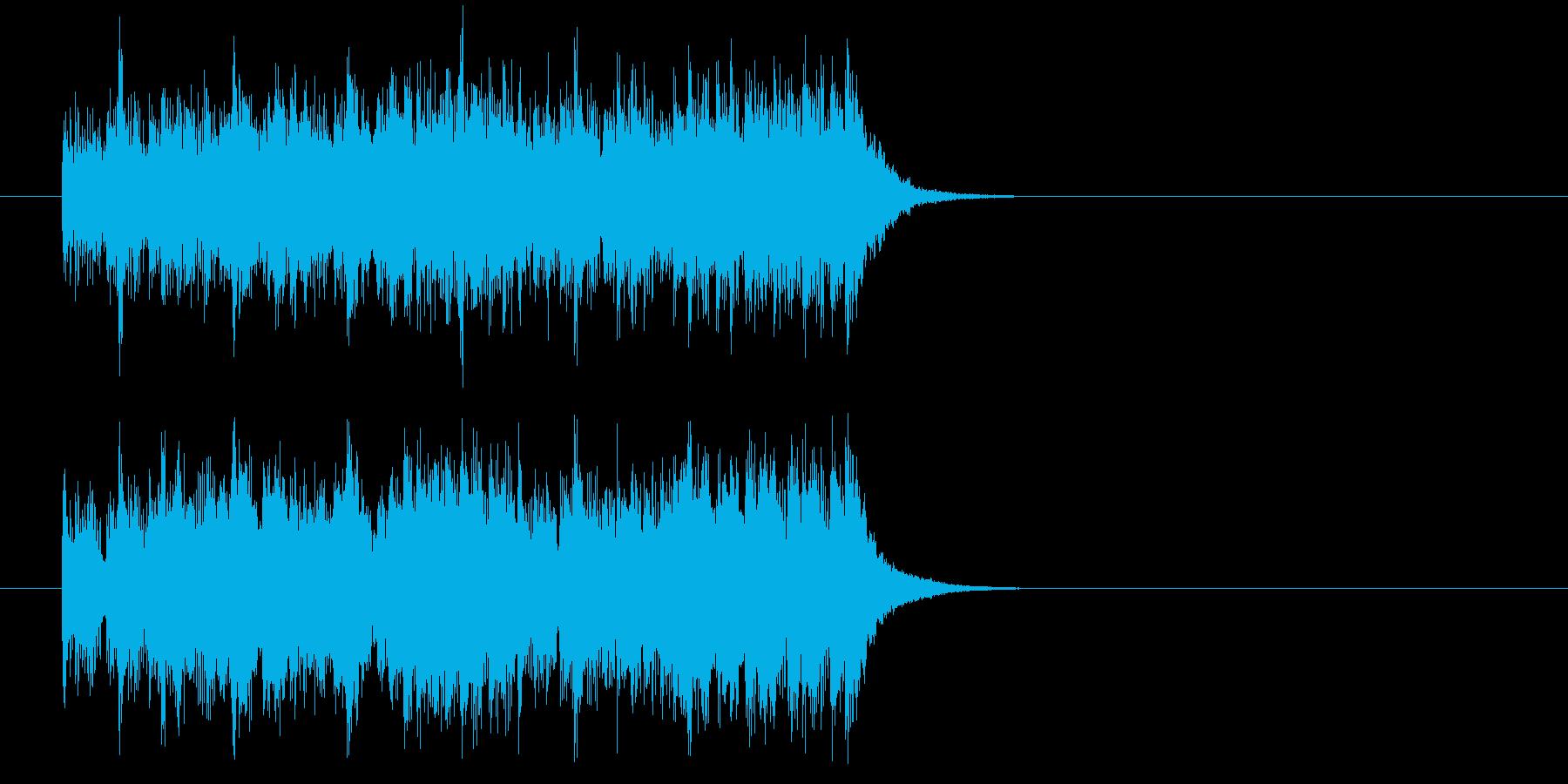 ジングル(スピード感)の再生済みの波形