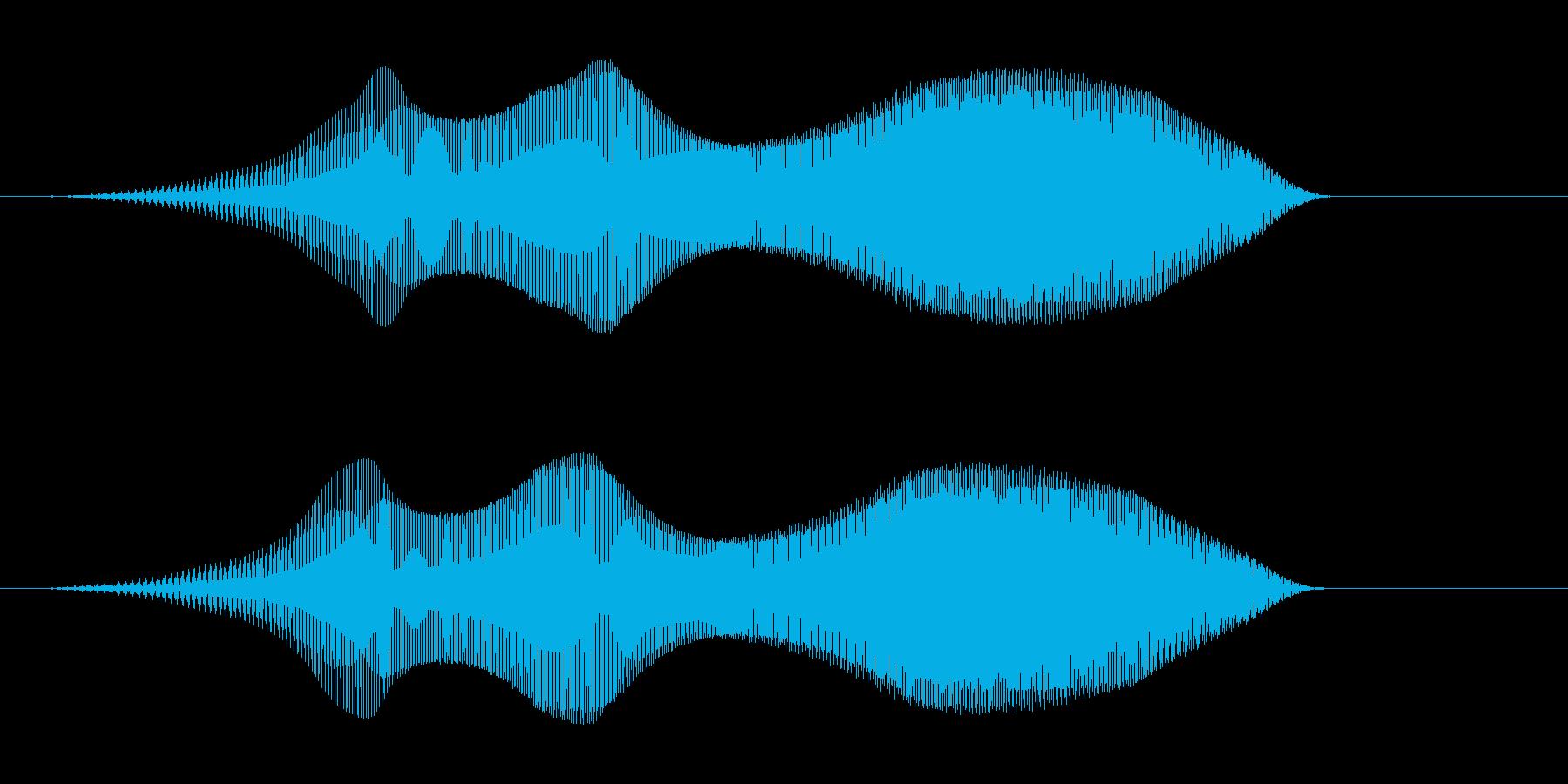 ピヤー(失敗・エラー時の音)の再生済みの波形