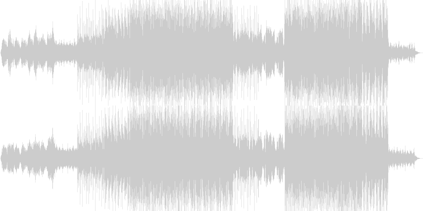 幻想的な雰囲気のチル系エレクトロニカの未再生の波形