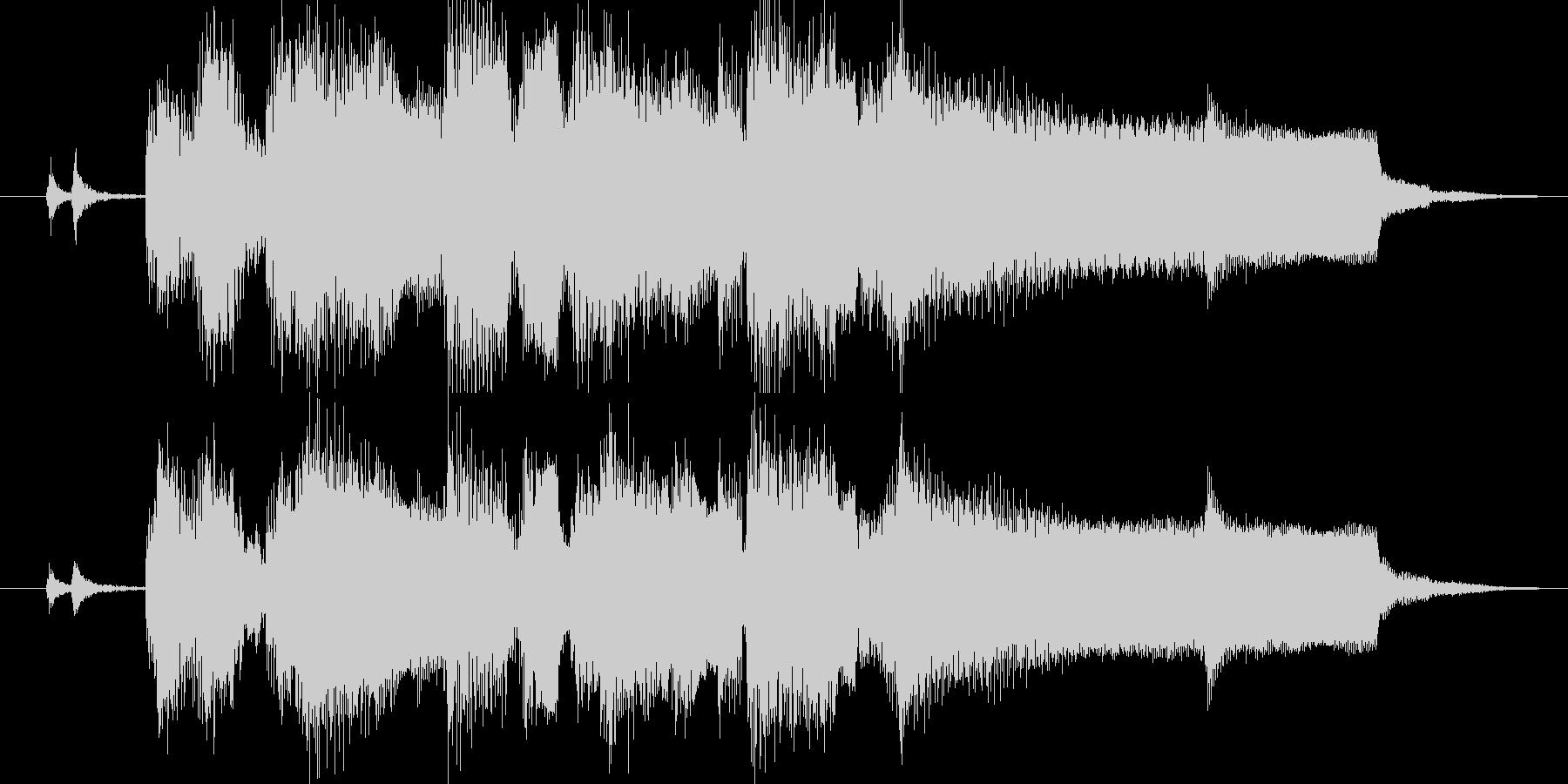 ジャズ風にアレンジしたジングルの未再生の波形
