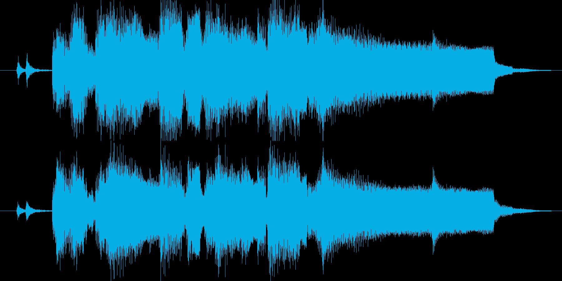 ジャズ風にアレンジしたジングルの再生済みの波形