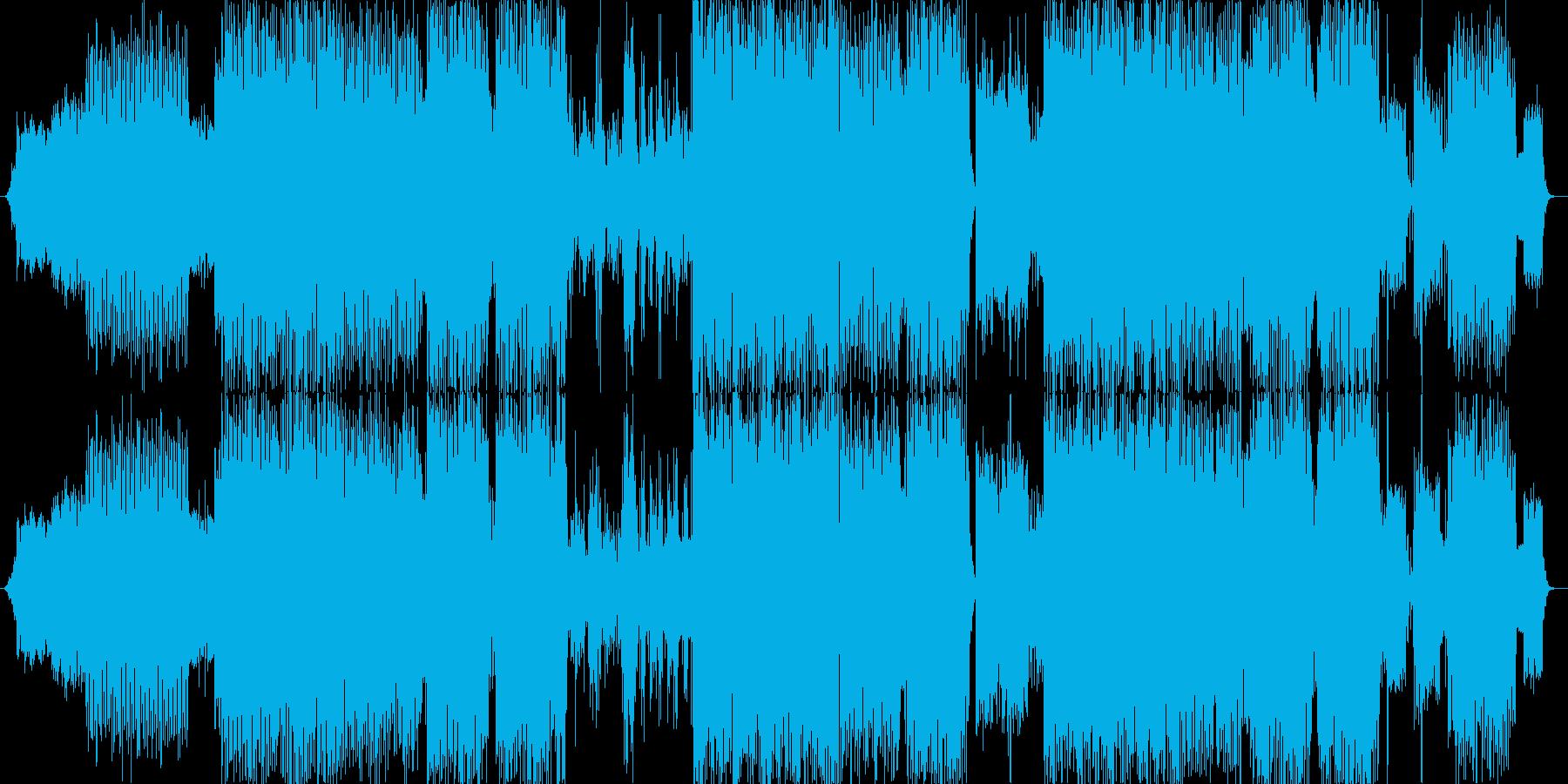 サイバーな雰囲気なトランステクノの再生済みの波形
