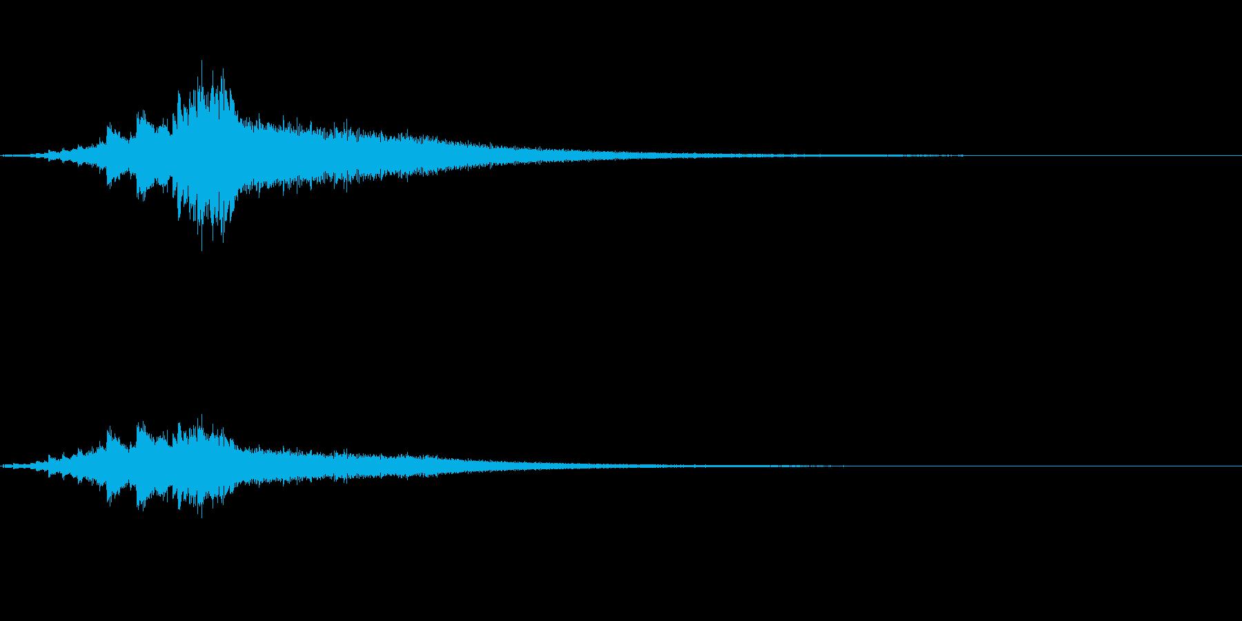 しゃららららららら ウィンドチャイムの…の再生済みの波形
