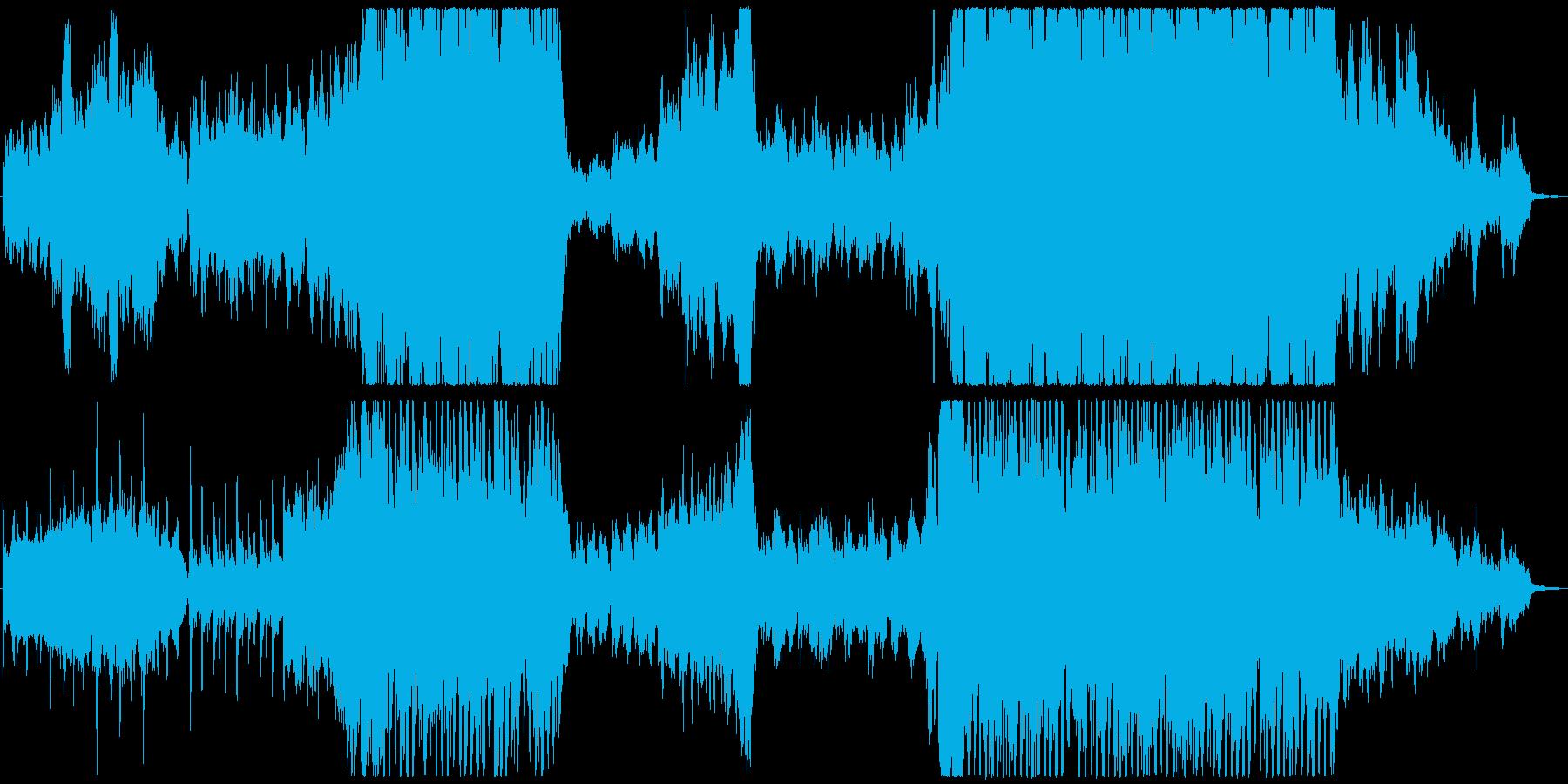 ゆったりと盛り上がるオーケストラの再生済みの波形