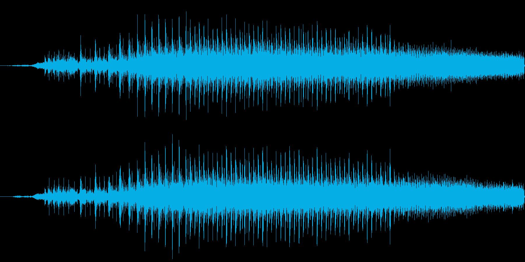 チェーンソーの起動の再生済みの波形