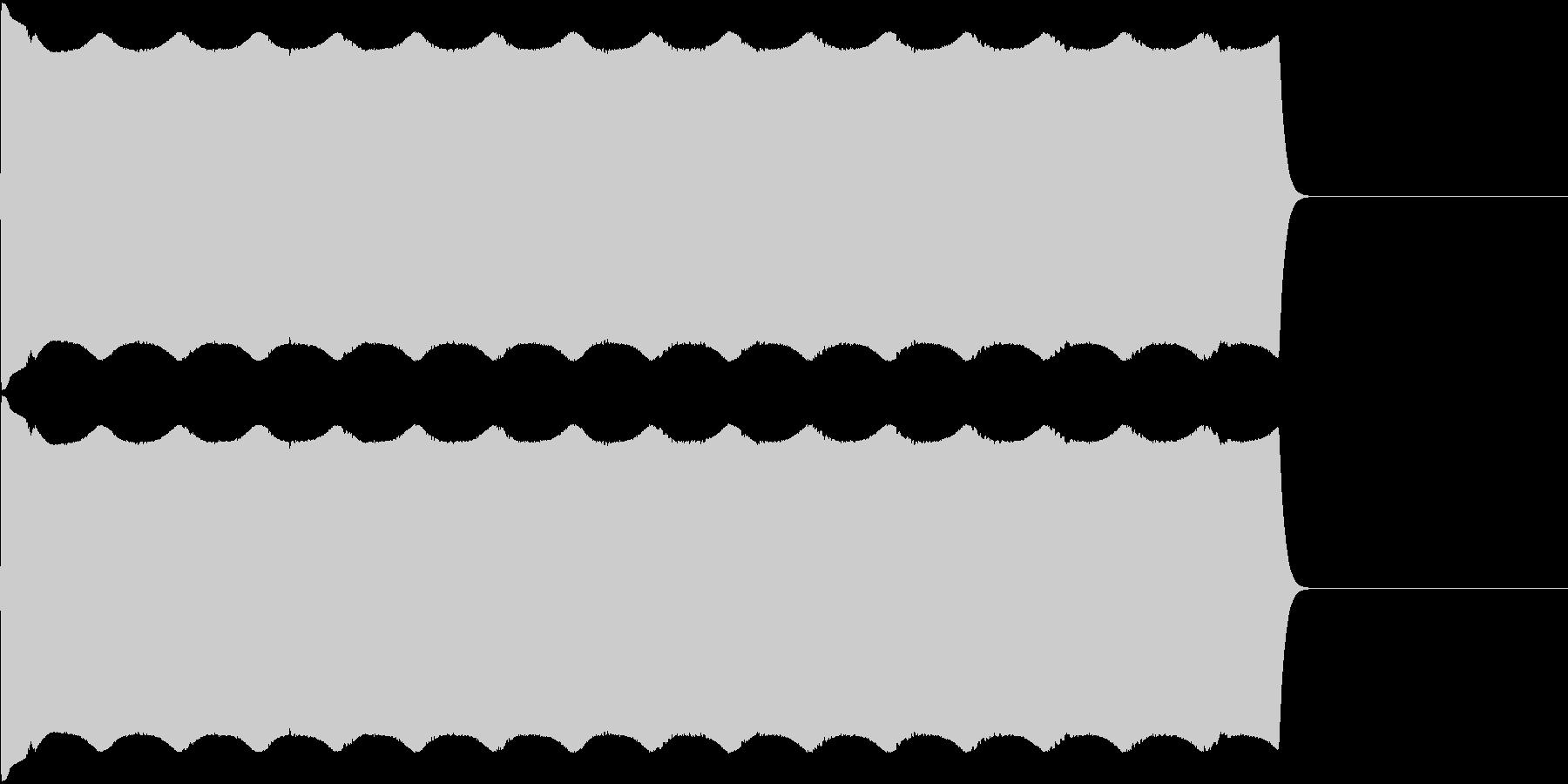 サイレン音01の未再生の波形
