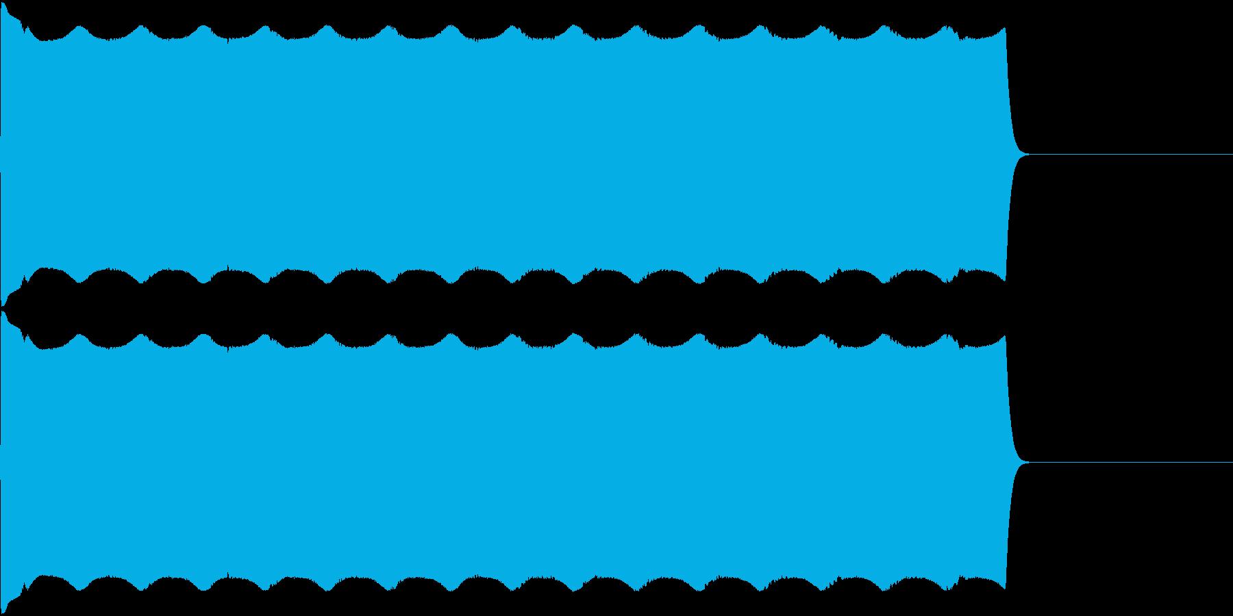 サイレン音01の再生済みの波形