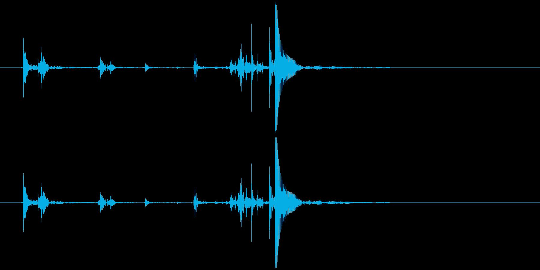 ガチャガチャのカプセル開閉音 カカッポッの再生済みの波形