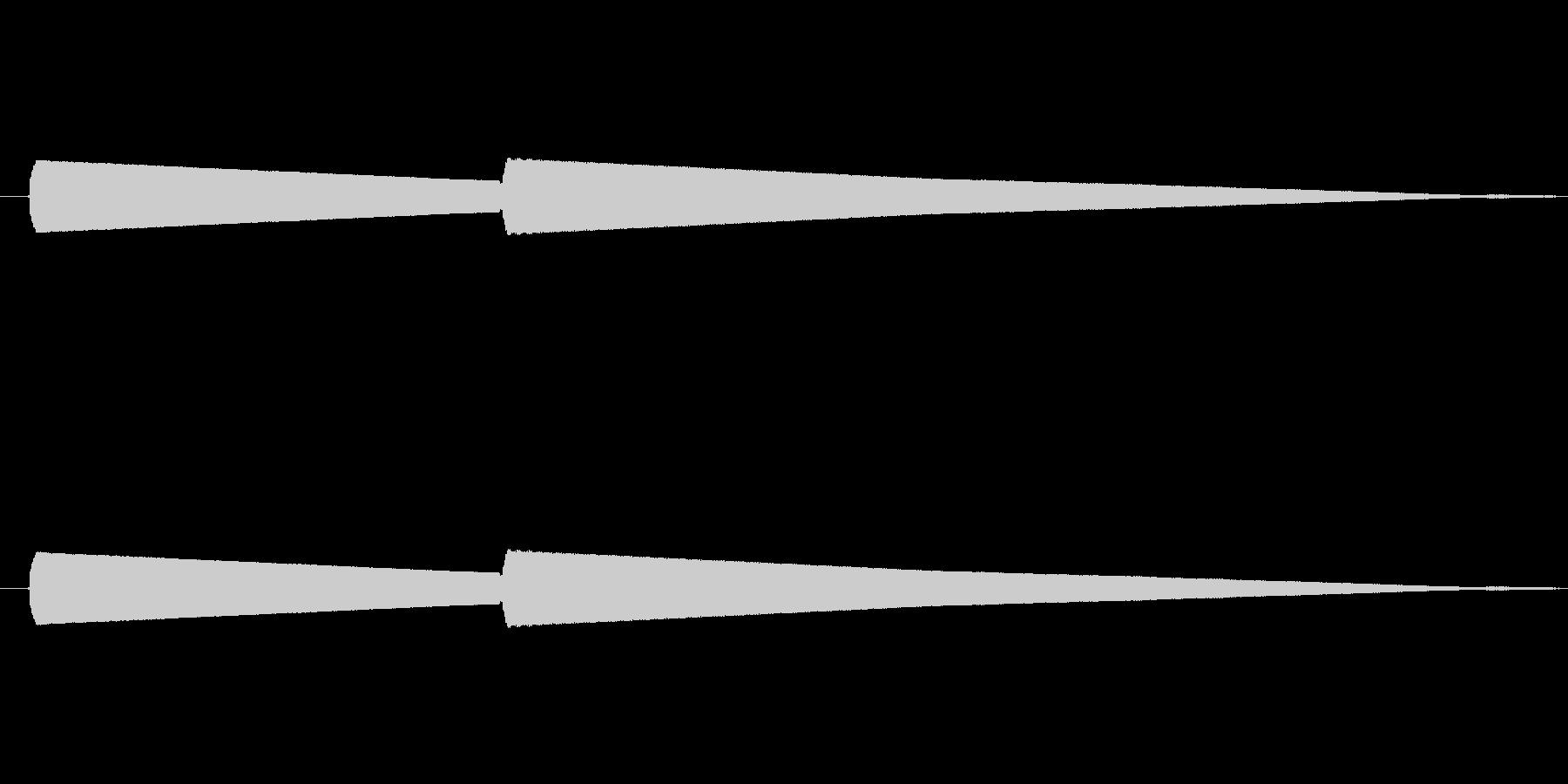 インターホン(ピンポン)の未再生の波形