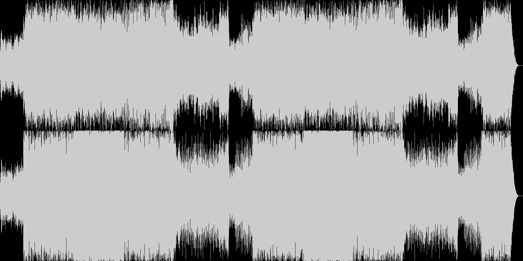 疾走感のあるファンタジーBGMの未再生の波形