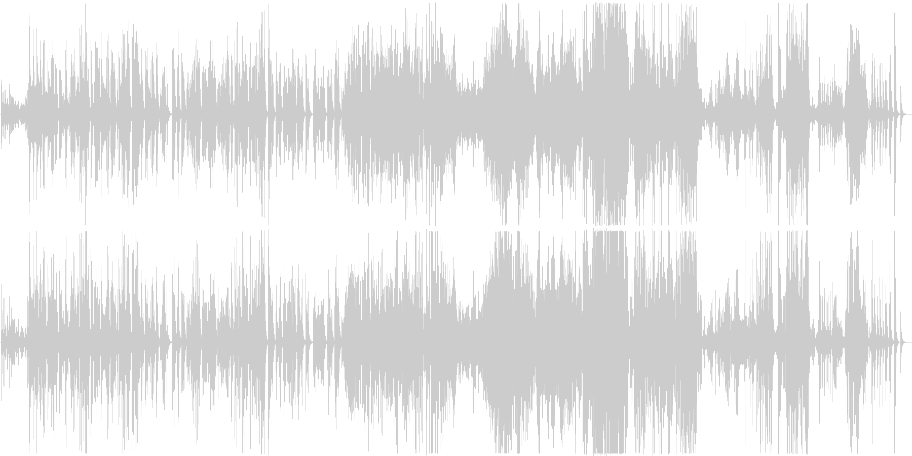 幻想的なハングドラム演奏の未再生の波形