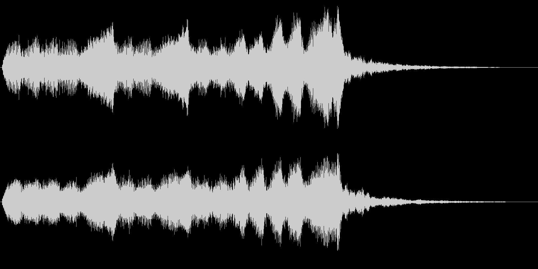 バイオリンの悲しいゲームオーバーフレーズの未再生の波形