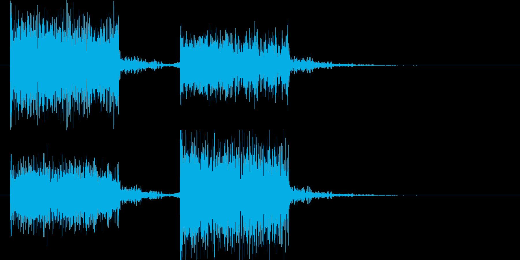 結果発表や次のステップに進む時の音の再生済みの波形