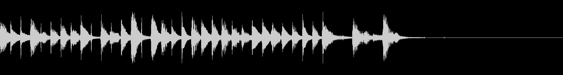 マリンバによるポップなアンサンブルの未再生の波形
