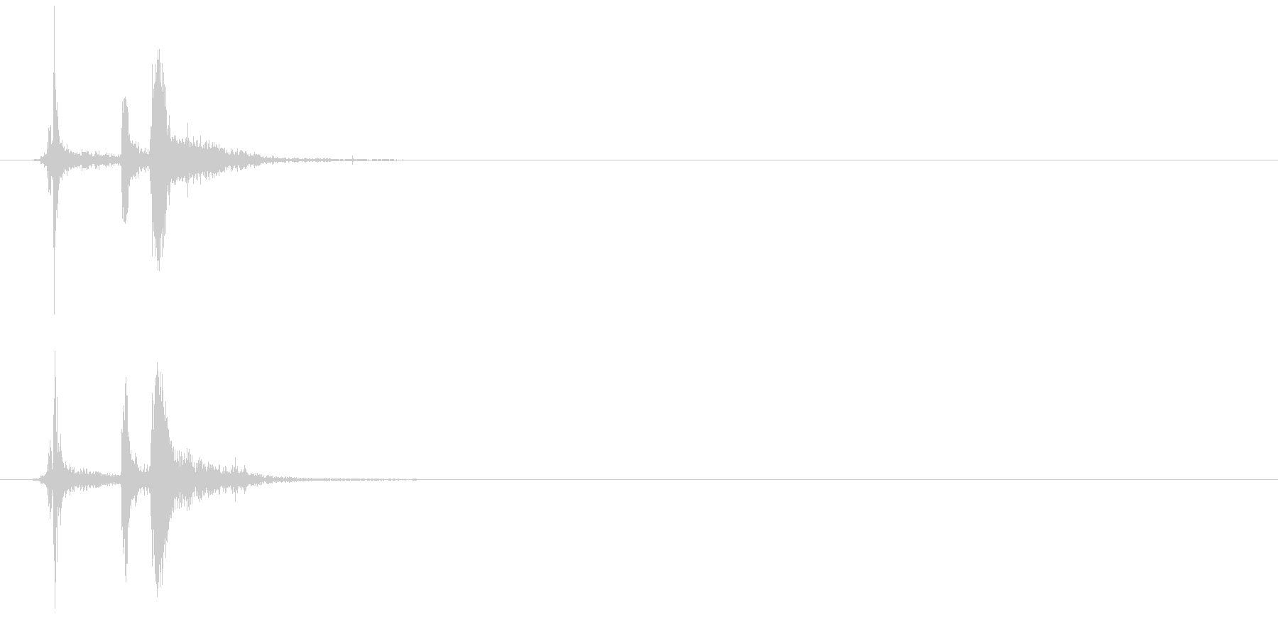 錠(カチャン、鍵)の未再生の波形