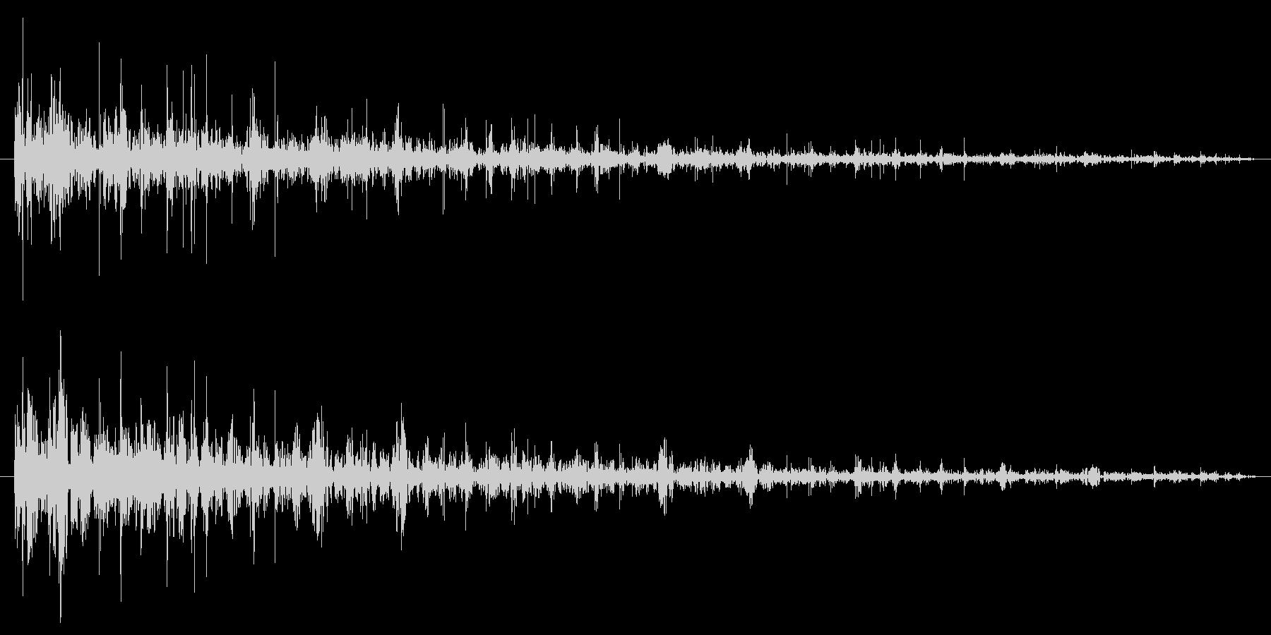 レコードノイズの未再生の波形