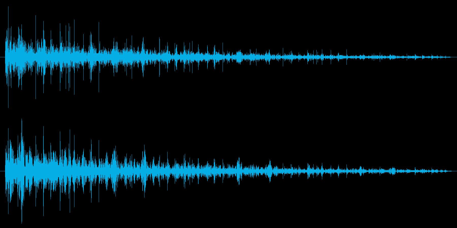 レコードノイズの再生済みの波形