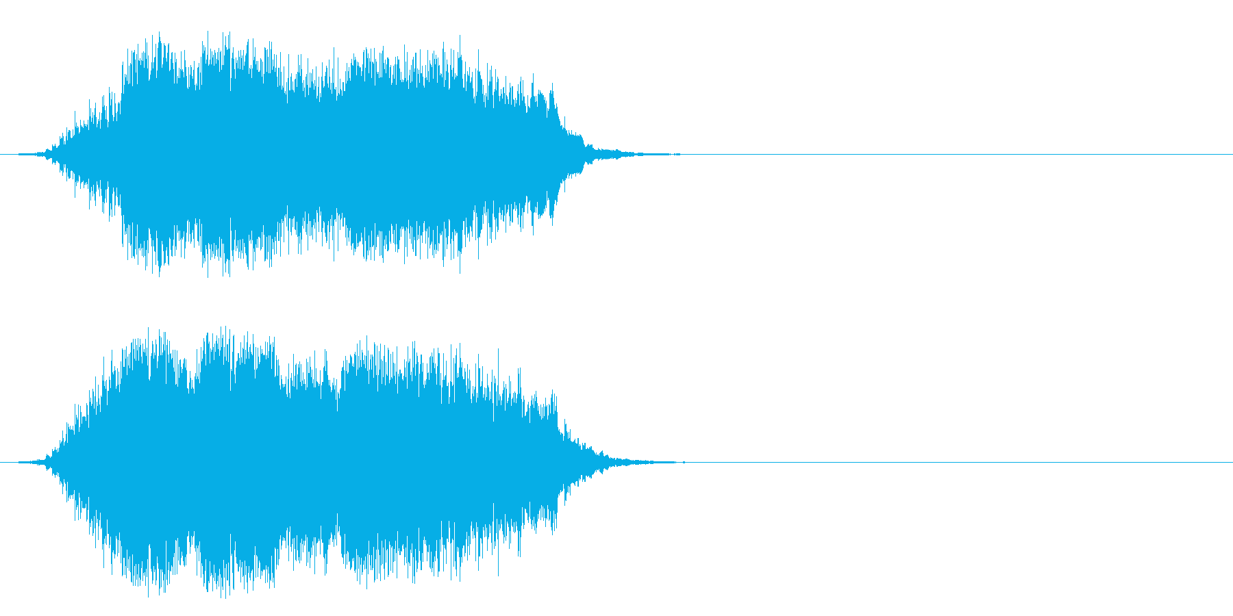 ワールド・ミュージック系ジングルの再生済みの波形
