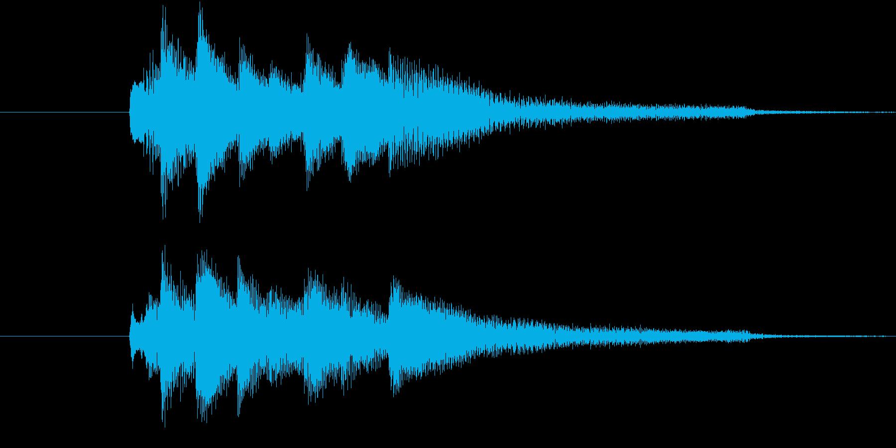 【生ピアノ】アイキャッチ:不穏な空気の再生済みの波形