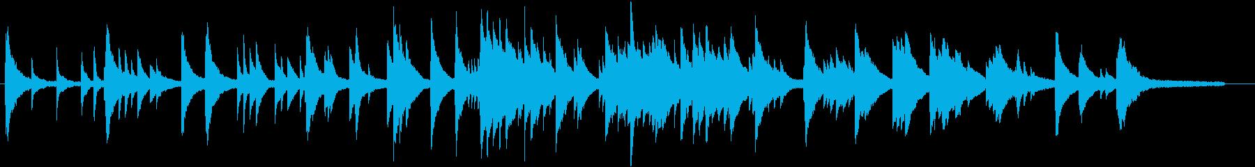 音の粒がしっかりしているピアノ・ソロ曲の再生済みの波形