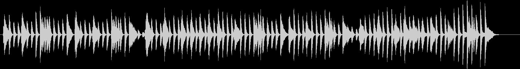 軽快な明るいピアノBGMの未再生の波形