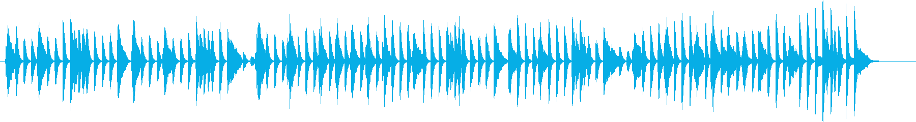 軽快な明るいピアノBGMの再生済みの波形