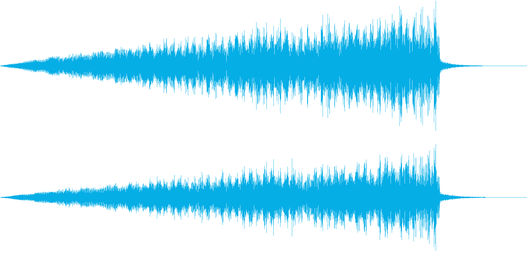 エンジンが燃えている音の再生済みの波形