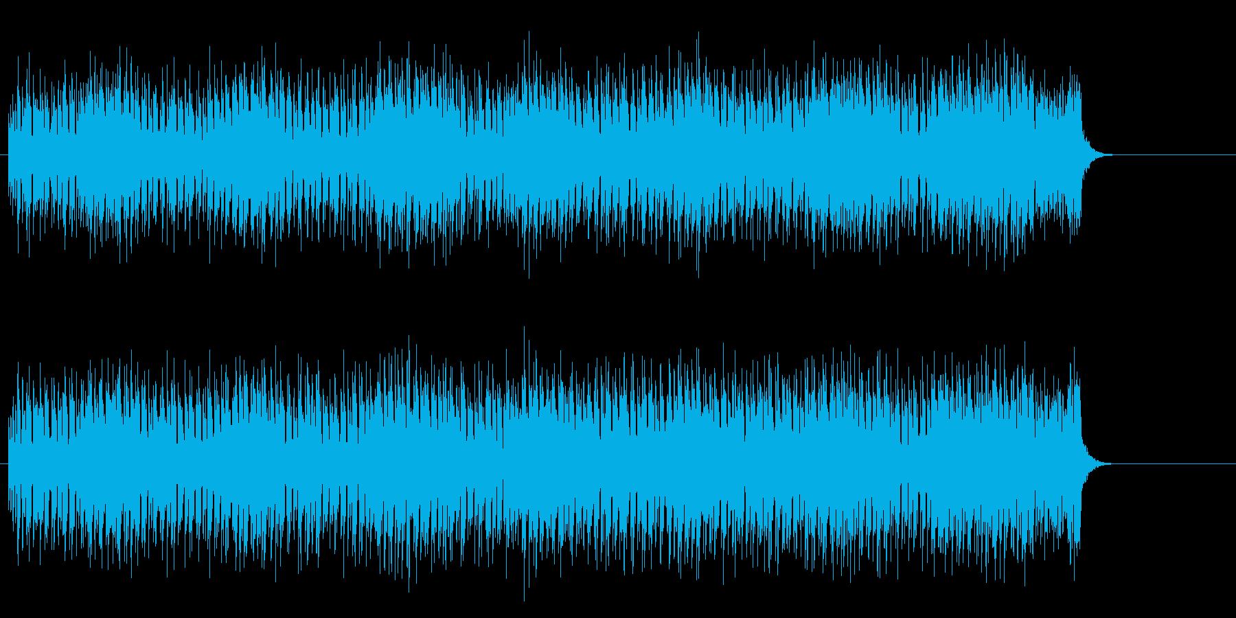 タイトで圧迫感のあるダイナミックなロックの再生済みの波形
