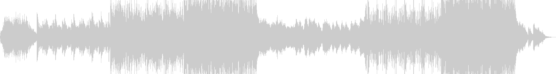 幻想的音楽ーRaindropの未再生の波形